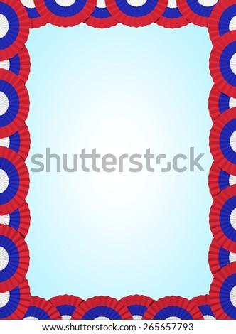 Russia, serbia fan folding ribbon background - stock photo