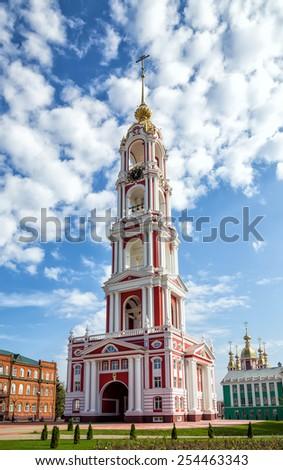 Russia. Tambov city. Bell Tower of Kazan Monastery - stock photo