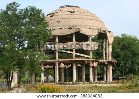 Russia, Voronezh. Rotunda. Monument To The World War II (destroyed hospital) - stock photo