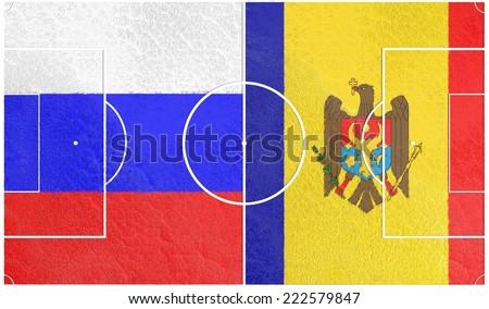 russia vs moldova europe football championship qualification 2016 - stock photo