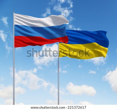 Russia vs Ukraine - stock photo