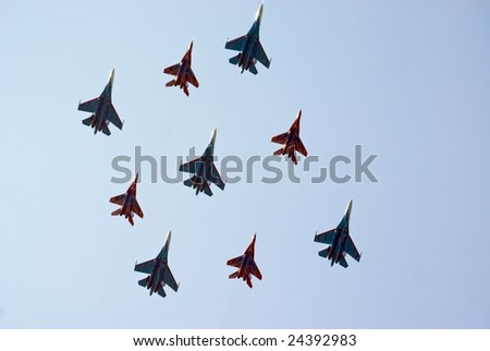 Russian Airplane in the Airshow - stock photo