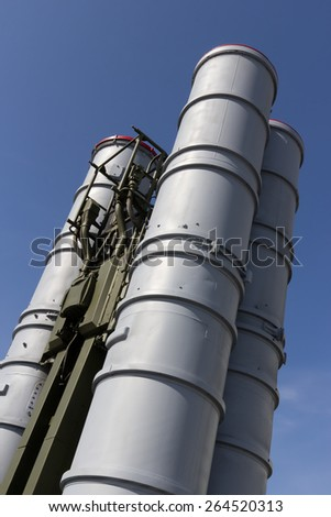 Russian and Soviet C-300 surface-to-air missile system - stock photo