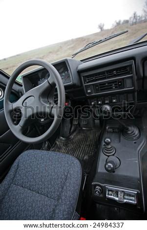 russian car interior - stock photo