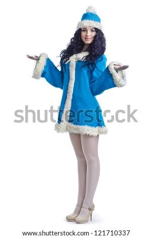 Russian Christmas characters Snegurochka (Snow Maiden) - stock photo