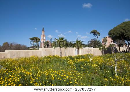 Russian Church, Saint Petrus Abu-Kabir, Tel-Aviv-Jaffa - stock photo