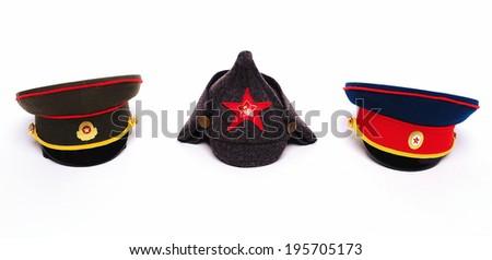 Russian hats  - stock photo