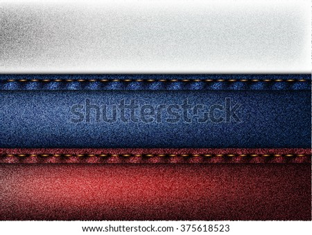 Russian jeans flag - stock photo
