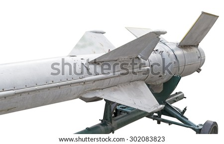 Russian missiles in a museum   - stock photo
