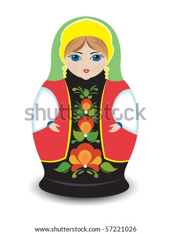 Russian Nesting Doll - stock photo