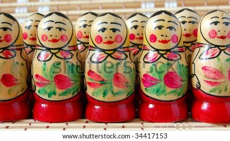 Russian nesting dolls - stock photo