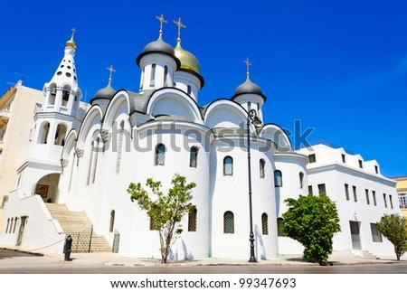 Russian orthodox church in Old Havana downtown - stock photo