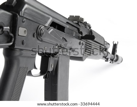 Russian rifle Kalashnikov ak74m - stock photo