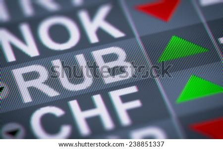 Russian ruble - stock photo