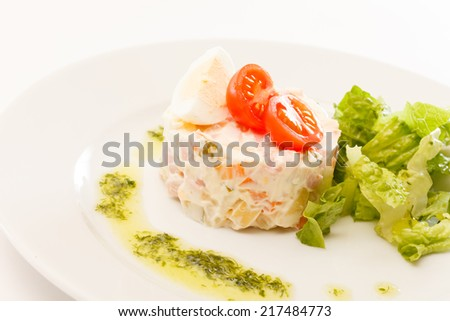 Russian salad - stock photo