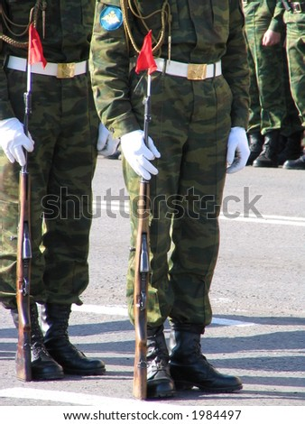 russian soldiers - stock photo