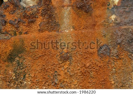 Rust from a wrecked ship - stock photo