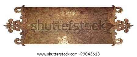rust metal plate - stock photo