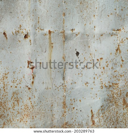 rust metal wall background - stock photo