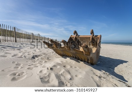 Rust on the beach - stock photo