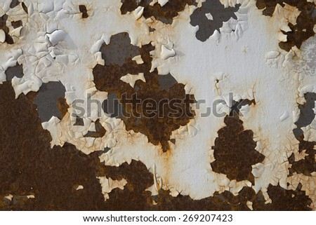 rust on the metal structure .Background - stock photo