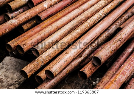 rust pipe - stock photo