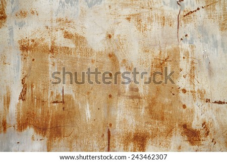 Rust sheet steel background - stock photo