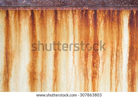 Rust stains on the wall - stock photo