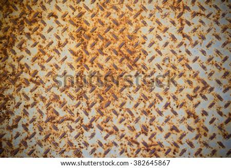 rust steel floor plate background  - stock photo
