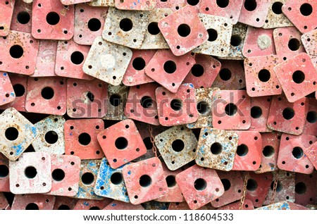 Rust steel pipes - stock photo