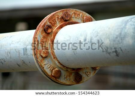 Rust steel water pipe - stock photo