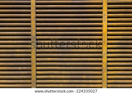 Rusted Metal Grille Texture - stock photo