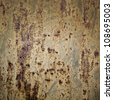 Rusted metal wall detailed photo texture - stock photo