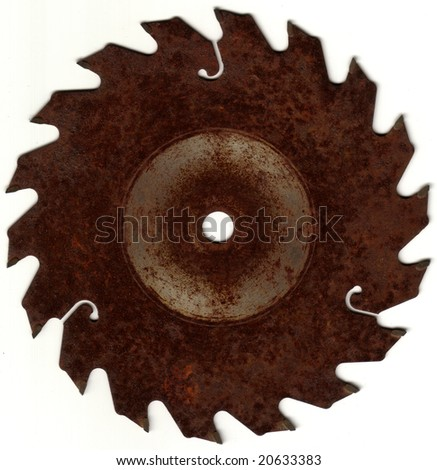 Rusted Saw Blade - stock photo