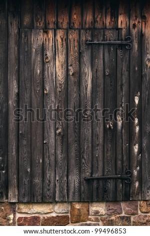 Rustic Barn Door - stock photo