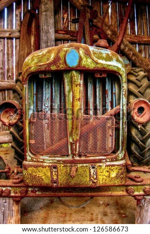 Rustic Car front background - stock photo