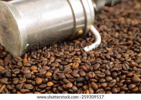 rustic coffe - stock photo