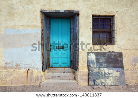 Rustic Door in Tucson - stock photo