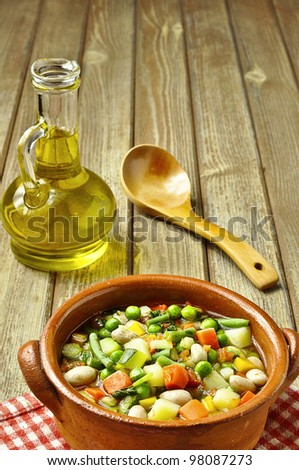 rustic food - stock photo