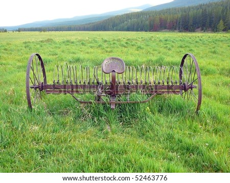 Rustic Plow, Rocky Mountain National Park - stock photo