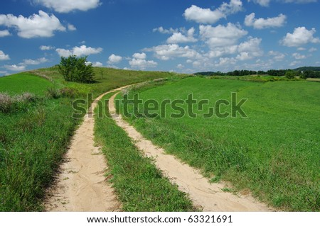 Rustic Road - stock photo