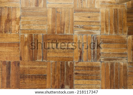 Rustic wood flooring texture with a parquet pattern - stock photo