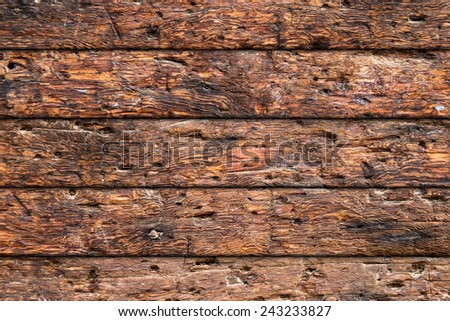 rustic wood texture - stock photo
