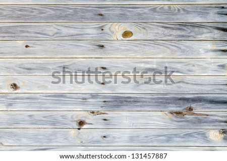 Rustic wood with knots and nails. - stock photo