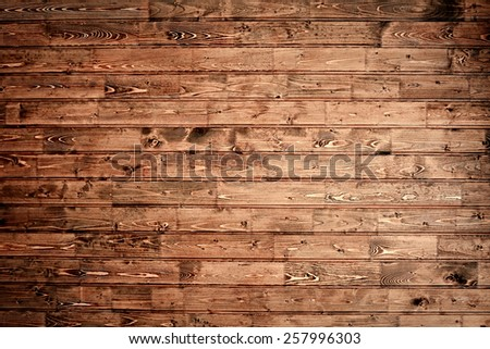 Rustic wooden planks background - stock photo