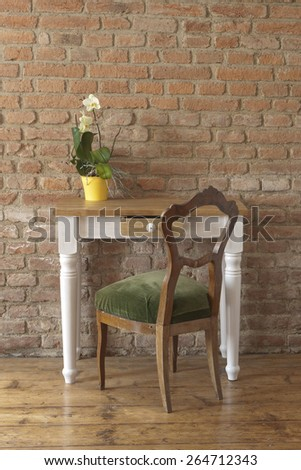 rustical table - stock photo