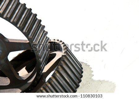 Rusty adjust pulley - stock photo