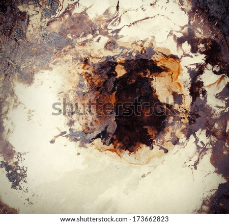 Rusty and dirty metal background - stock photo