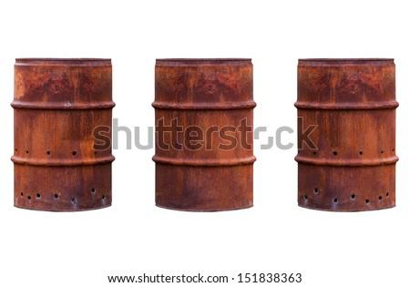 Rusty Barrel - stock photo