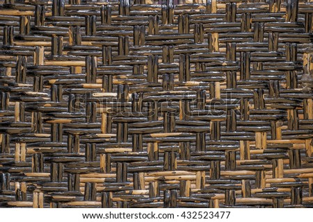 Rusty black wooden texture suitable for background - stock photo